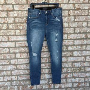 Torrid Premium Distressed Sky High Skinny Jeans 14